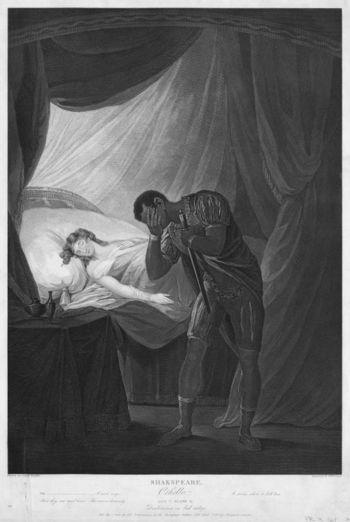 Josiah_Boydell_Desdemona_in_bed_asleep_-_Othello_Act_V_scene_2