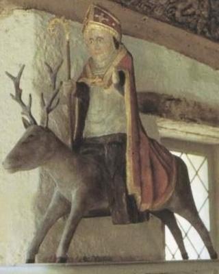 Saint_Thelo_abbaye_Daoulas_13e_siècle_statue_bois_polychrome