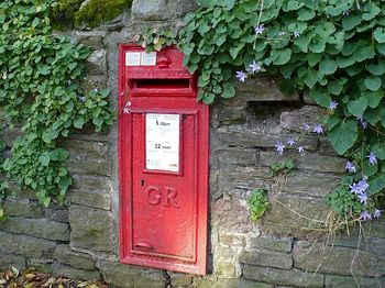 George_V_postbox_with_a_suffragette_connection,_Risca_Road,_Newport_-_geograph_org_uk_-_1565697