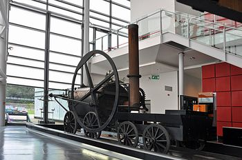 Replica_of_Richard_Trevithick's_steam_locomotive,_National_Waterfront_Museum_-_Swansea_-_geograph.org.uk_-_1460396